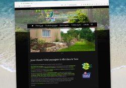 Capture site internet du site web de Vidal Paysagiste par Agence Web Tarn.