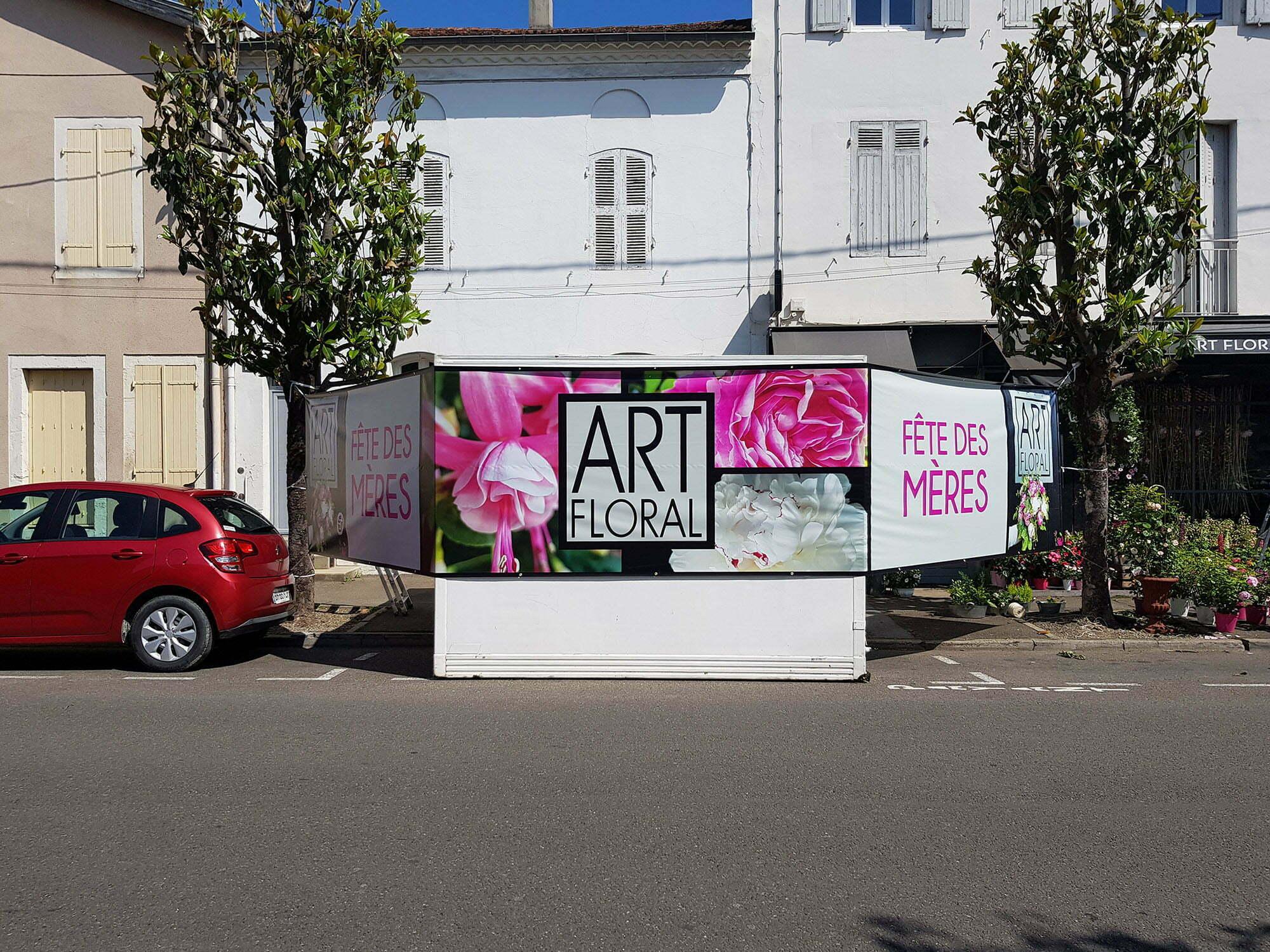 Création et impression bâche grand format Art floral
