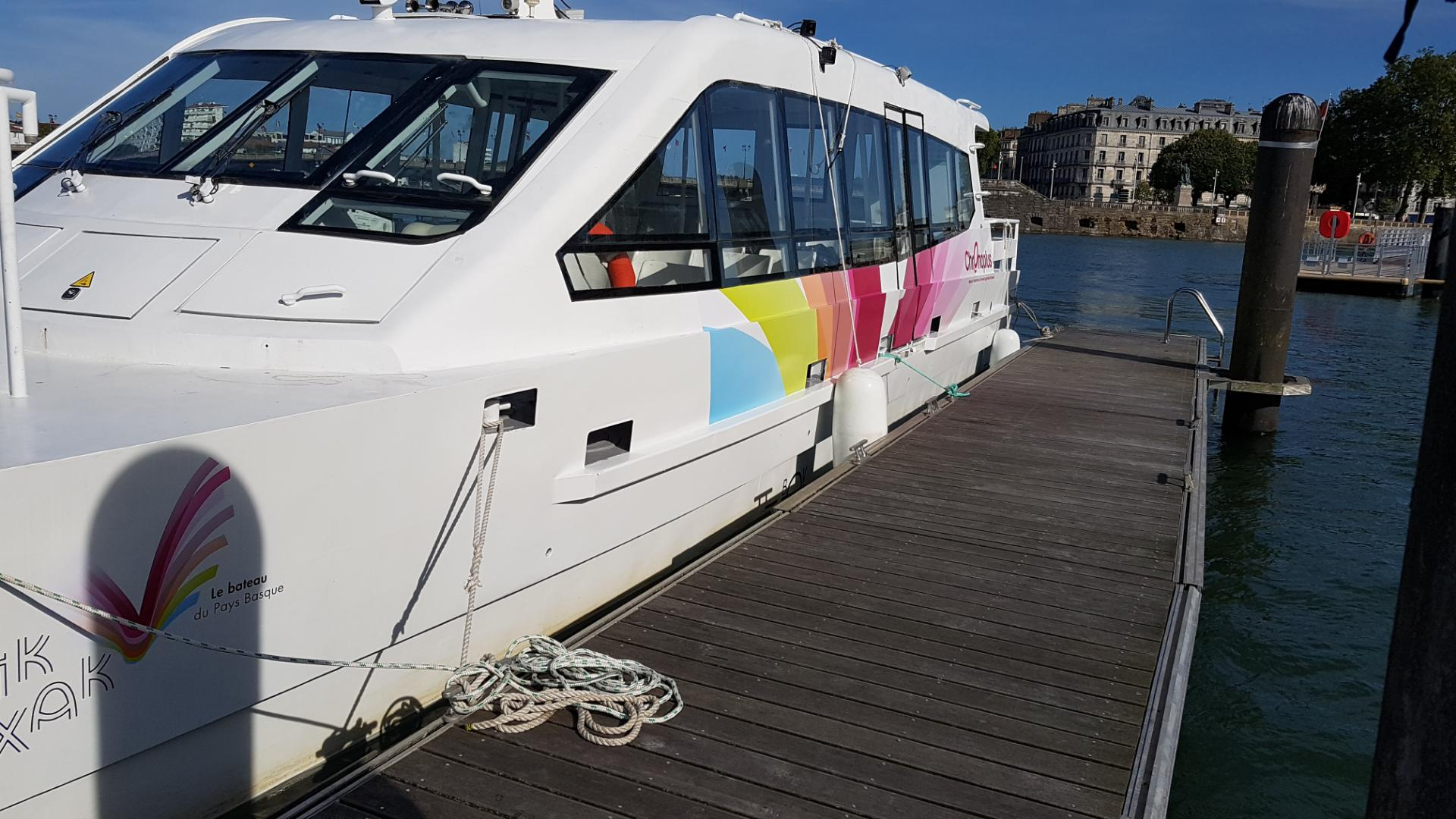 Wrapping Covering Bateau Capbreton – Hendaye – Biarritz – Biscarrosse – Arcachon – Sete – Narbonne – Collioure – Argeles sur Mer – Jifmar – Offshore -impression- pose
