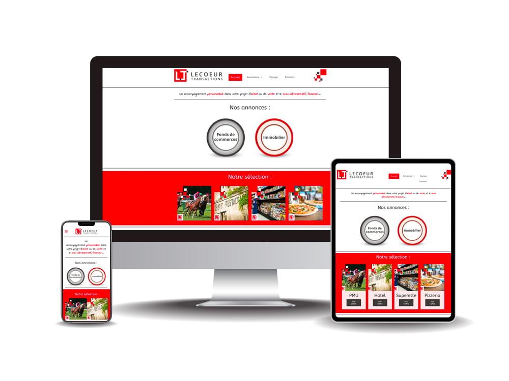 Site internet Lecoeur transactions