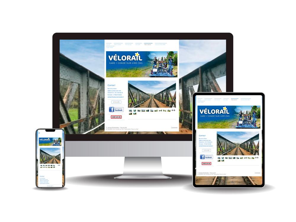 Site internet Vélorail
