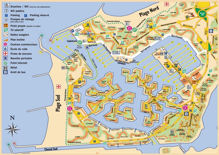 La carte et le plan du Port Camargue  Agence Immobilire A
