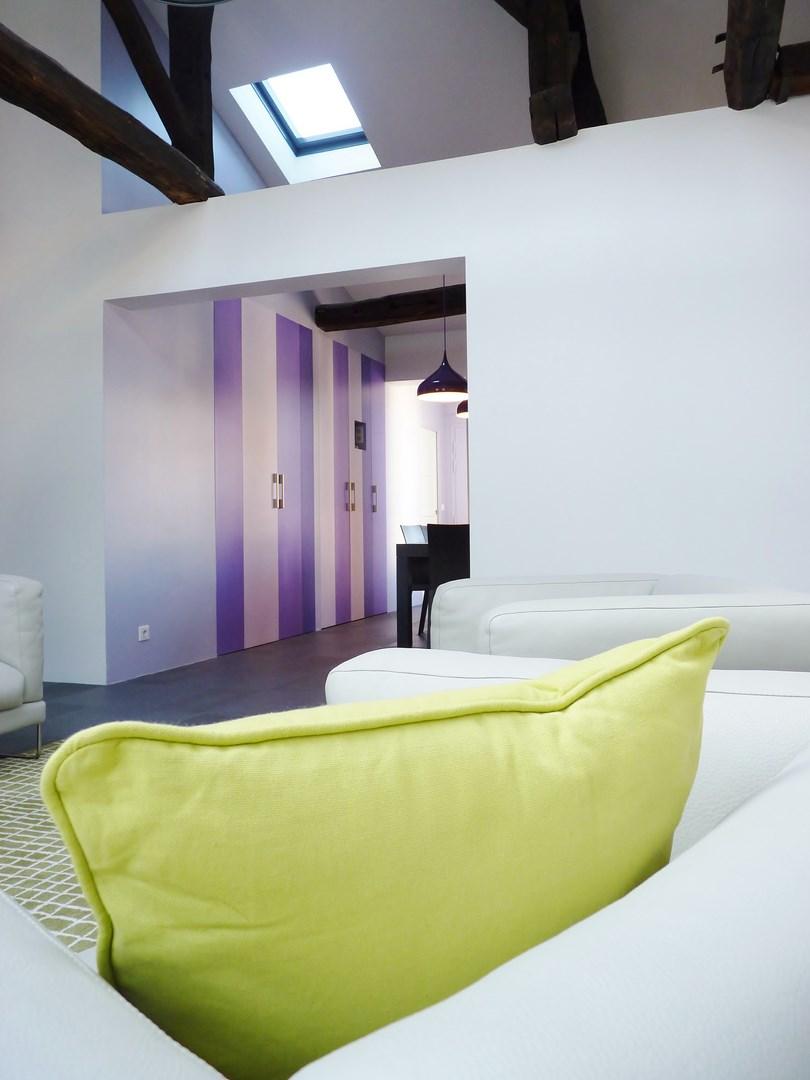 Amnagement appartement sous combles baign de lumire paris
