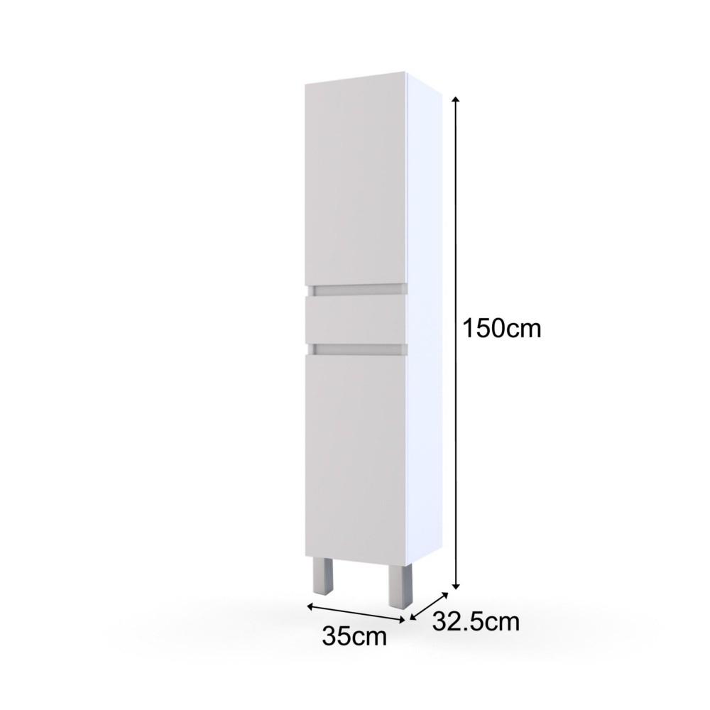 150 cm tout colonne salle de bain blanc