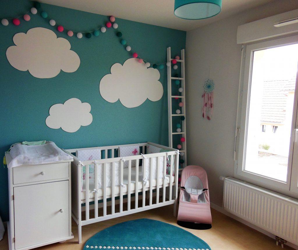 murale nuages chambre enfant
