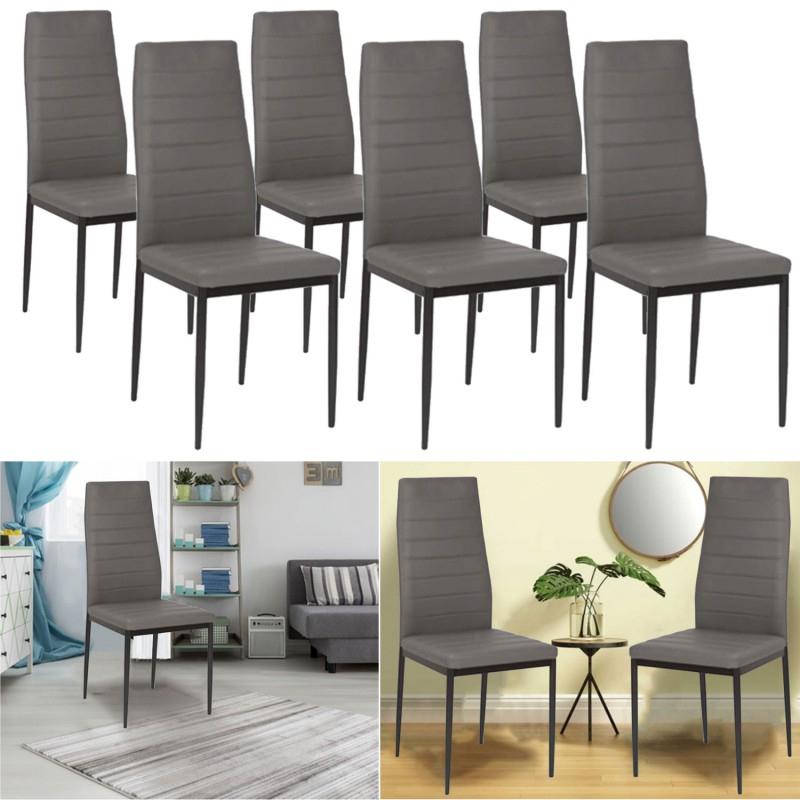 lot de 6 chaises romane grises pour