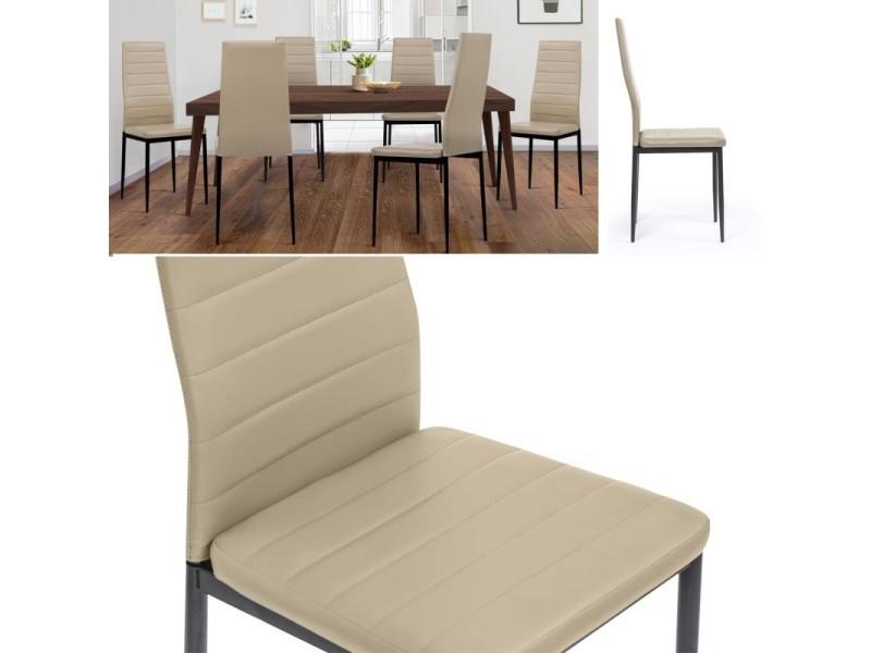 lot de 6 chaises romane taupes pour