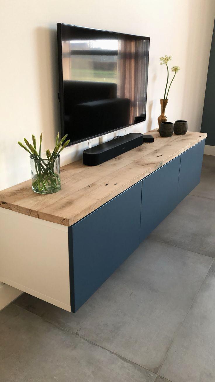 حلقة مكشوف يمكن meuble tele ikea noir