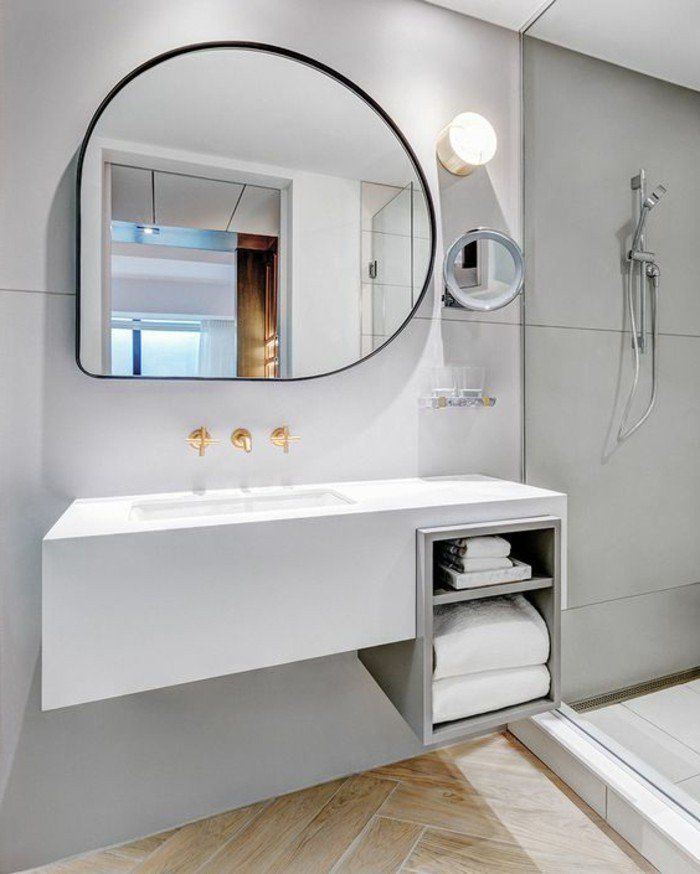 miroir ovale salle de bain idees de