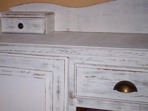 peinture effet vieilli blanc resine