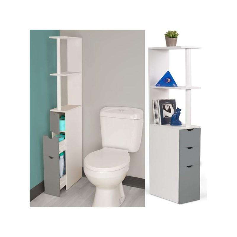 Meuble Wc Etagere Bois 3 Portes Blanc Et Gris Gain De Concernant Meuble Pour Toilette Castorama Agencecormierdelauniere Com Agencecormierdelauniere Com