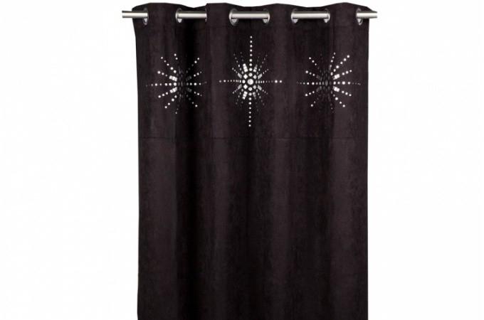 rideau a oeillet japonais noir 140x260