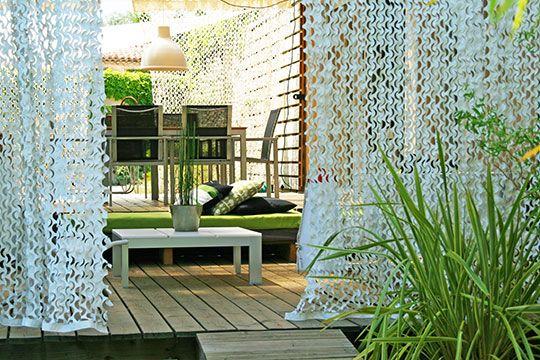 rideau camouflage pour terrasse