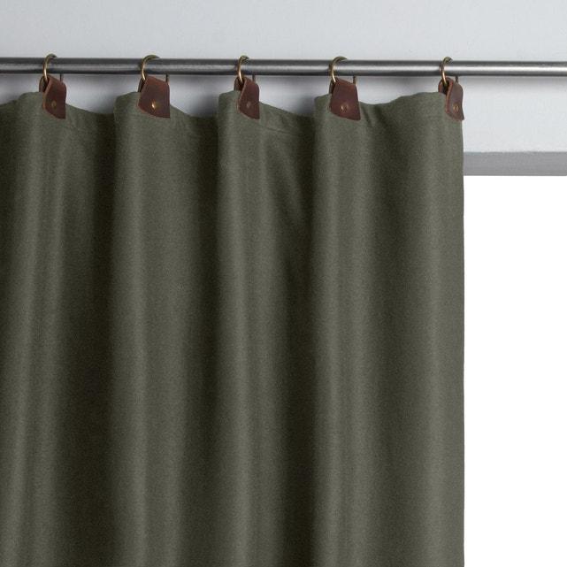 rideau lainage passants cuir nelson
