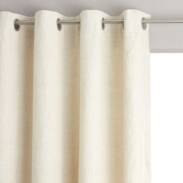 rideau a rideaux en lin pas cher