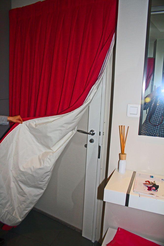 rideau portiere pour isoler une porte d