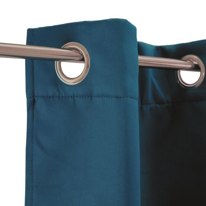 Rideau Thermique Strong 140 X 250 Cm Bleu Rideau Destine Rideau Pas Cher Gifi Agencecormierdelauniere Com Agencecormierdelauniere Com
