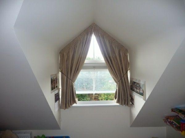 rideaux pour fenetres triangulaires de