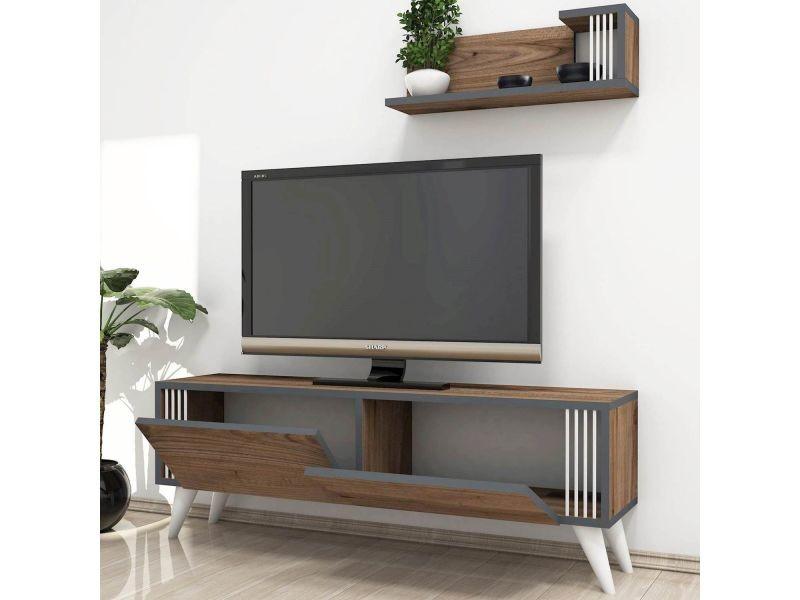 مقرنة إطالة غير اساسي meuble tv avec enceinte integre conforama