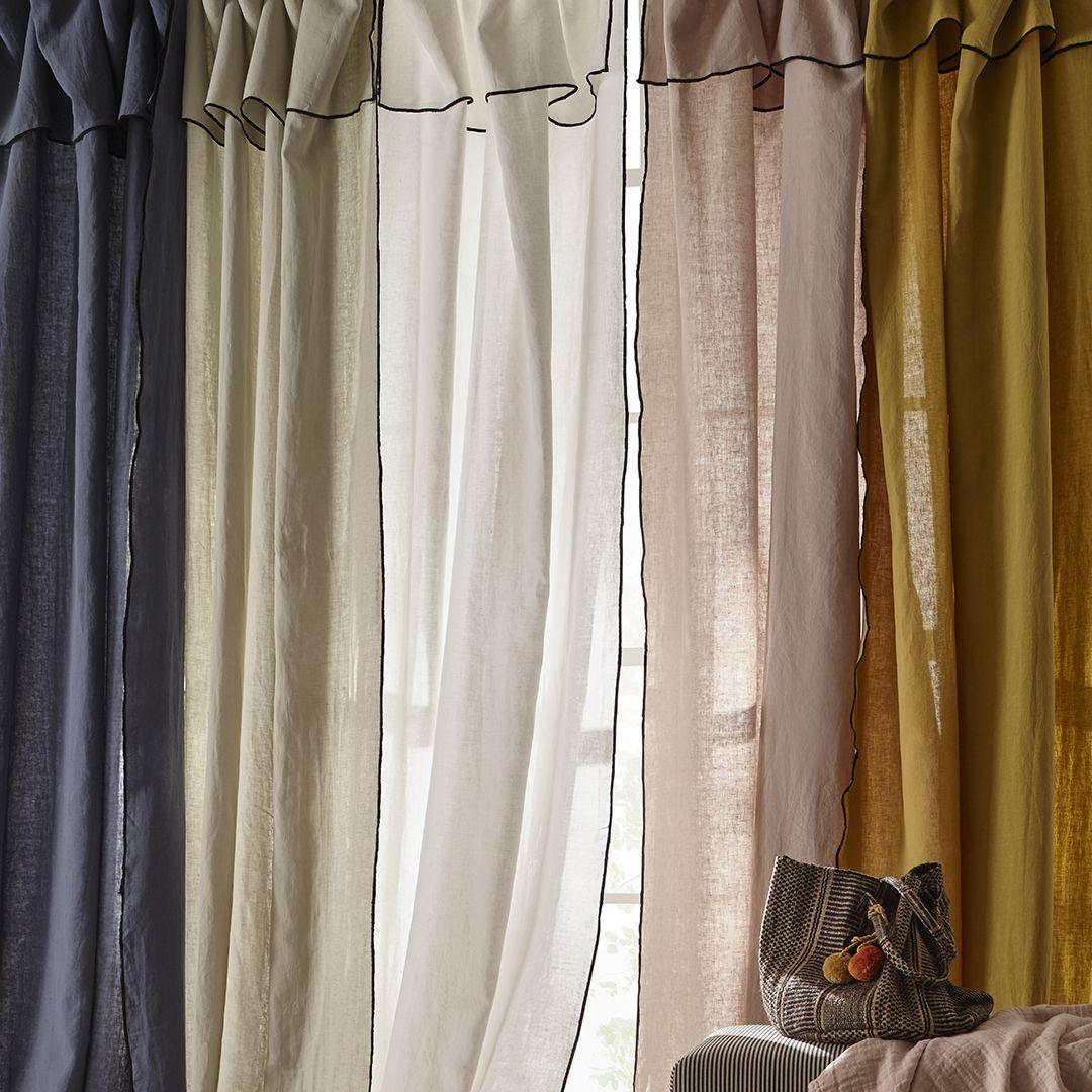 les rideaux en lin lave sont un