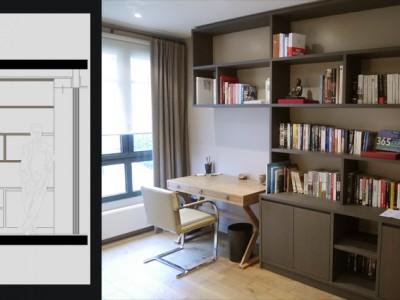Bibliotheque Et Bureau Intgr Portfolio Tags Agence