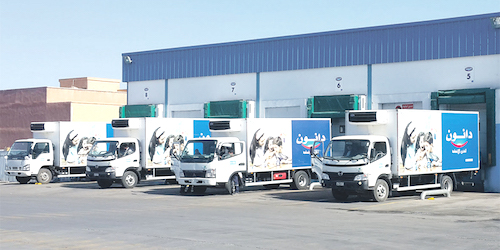 camions Centrale Danone