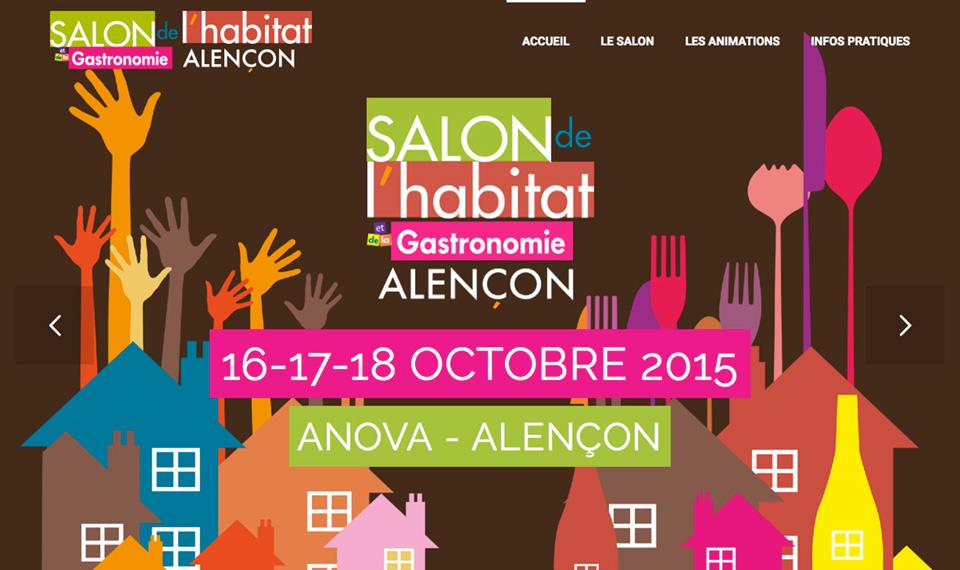 Salon de lHabitat  de la Gastronomie dAlenon  agencegrafik