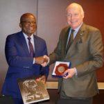 Faustin Boukoubi reçu par le Président du Musée du quai Branly