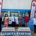 Sobraga/Eau et gel hydro-alcoolique : Une seconde dotation aux structures sanitaires d'Oyem