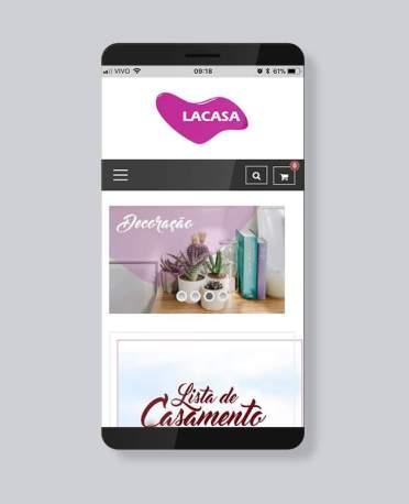 Blank Agência Criativa - E-Commerce / Loja Virtual - Lacasa presentes
