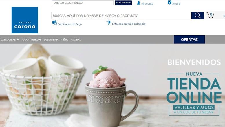 Vajillas Corona lanza página web para compras en línea