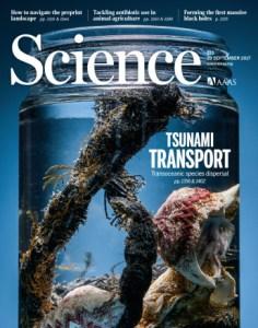 Portada de la revista Science de la última semana de septiembre de 2017