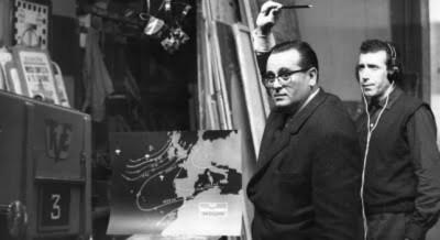Mariano Medina, el primer hombre del tiempo de la televisión en España. / Archivo TVE