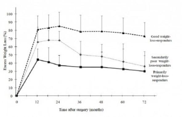 <p>El 70 % de los pacientes operados clasificados como fracasos primarios comen después de las tres de la tarde, y todo indicaría que el horario de la comida influye sobre la pérdida de peso. ( copyright: <em>Clinical Nutrition</em></p>