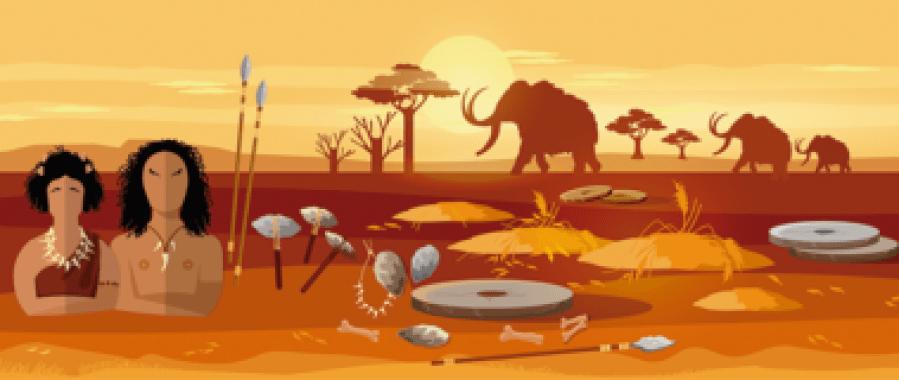 <p>Ilustración sobre la prehistoria. / US</p>