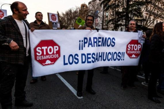 <p>Manifestación contra los desahucios en Madrid. / Wikimedia</p>