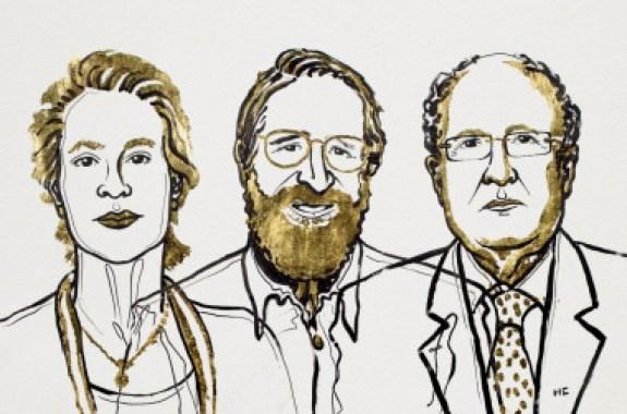 <p>Los Premios Nobel de Química de 2018:Frances H. Arnold,George P. SmithySir Gregory P. Winter./Niklas Elmehed. © Nobel Media</p>