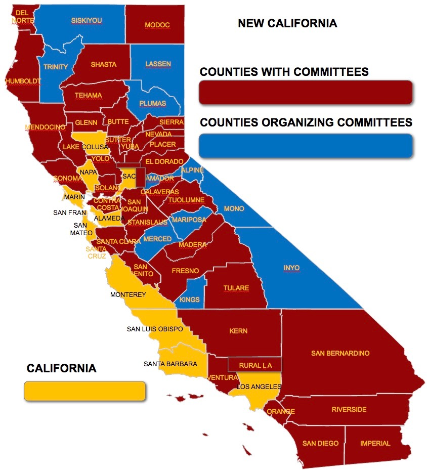 NOW THERE ARE NO COUNTIES IN NEW CALIFORNIA AGENDA - Counties of california