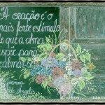 Mensagens em Desenhos de giz em lousa por Edna Feitosa
