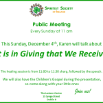 Public Meeting and Children's Gospel at Spiritist Society of Ireland, Dublin, IRL