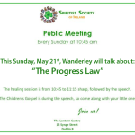 "Public Meeting: ""The Progress Law"", SSI, Ireland"