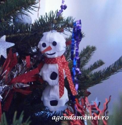 snowman din cofraj de oua