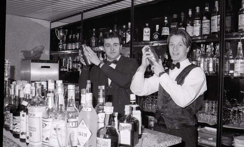 Gianni e Pasquale al bar del kiwi Club di Avellino