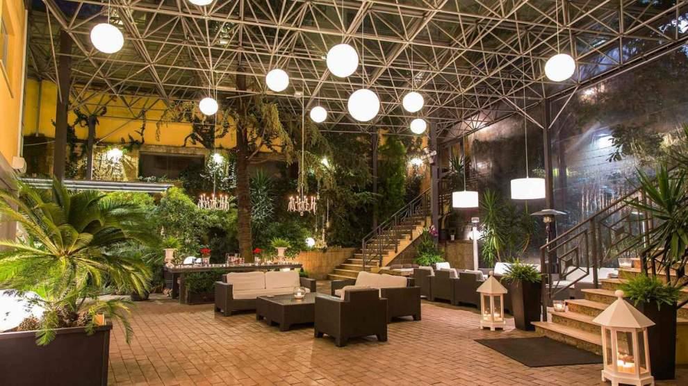 Il giardino dell'Hotel Villa traiano di Benevento