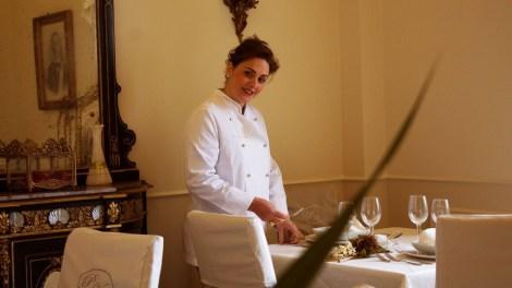 Antonella Iandolo, chef del ristorante di palazzo Vittoli.