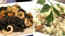Spaghetto nero con seppie e cozze