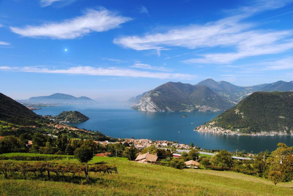lago d'iseo in Lombardia