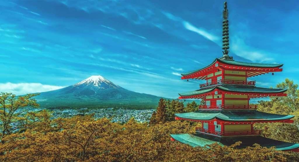 Monte Fuji in Giappone