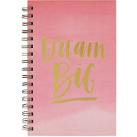 Personalised Ecojot dream big A5 notebook