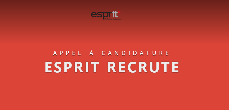 Appel À Candidature : ESPRIT Recrute Des Enseignants